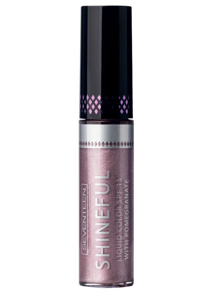 Помада-блеск жидкая с глянцевым эффектом Сиреневый SEVENTEEN Shineful Liquid Color SPF 15 фото