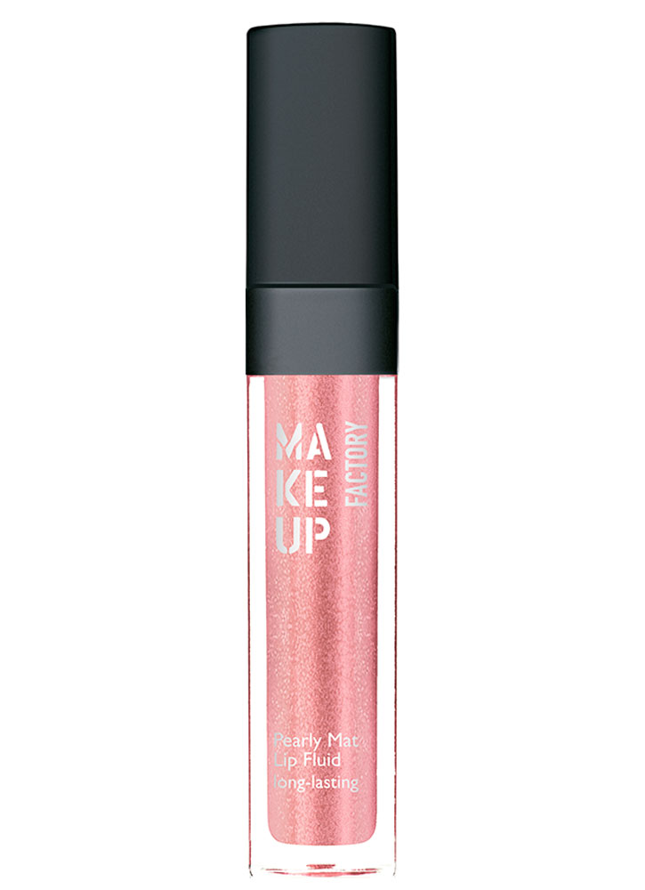 Блеск-флюид с эффектом металлик Бежевая роза MAKE UP FACTORY Pearly Mat Lip Fluid long-lasting фото
