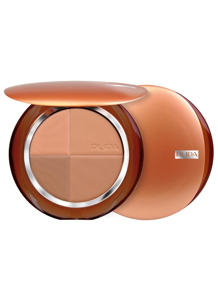 PUPA Пудра для лица компактная бронзирующая с защитным фактором SPF15 4Sun Bronzing Powder тон 1 Розовая гармония