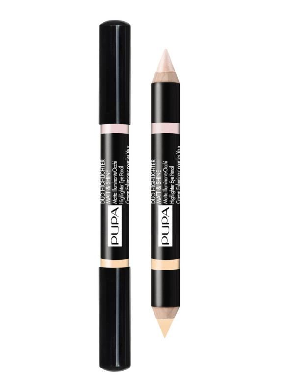 Хайлайтер для век Duo Highlighter Matt&amp;Shine тон 1 БежевыйХайлайтер для век<br>Большой двойной карандаш: с одной стороны - матовый, с другой -блестящий/перламутровый идеален для коррекции недостатков кожи и создания световых точек.<br>Цвет: Бежевый;