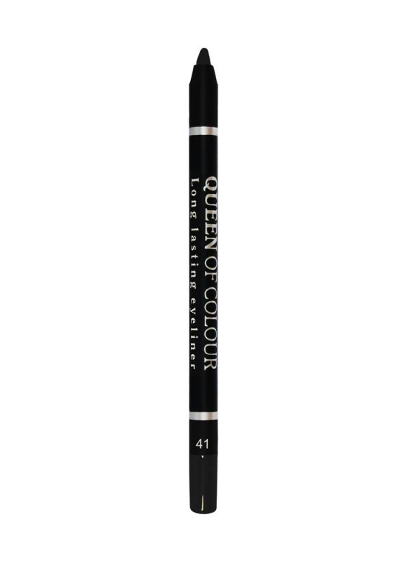 Карандаш для глаз Queen Of Colour тон 41 Черный матовыйКарандаш для глаз<br>Контурный карандаш для глаз Queen Of Colour - это кремовая текстура &amp;#43; 100% устойчивость. Высокая концентрация пигментов создает насыщенный цвет, который делает образ более ярким и индивидуальным. Таким карандашом можно выполнить как дневной, так и вечерний макияж. 5 ярких сатиновых насыщенных оттенков сделают контур глаз более выразительным, а макияж стойким.<br>Цвет: Черный матовый;