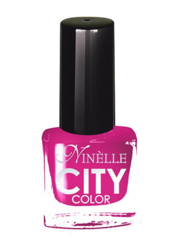 Лак для ногтей City Color тон 152 Пурпурное настроениеЛак для ногтей<br>Новейшие тенденции маникюра и потребности современных женщин вдохновили марку Ninelle на создание новой коллекции лаков для ногтей CITY COLOR от NinelleФормула уникальна и безупречна: лак быстро сохнет, гарантирует идеальную цветопередачу и потрясающий блеск, а также непревзойденную стойкость. Лак для ногтей City color выравнивает поверхность ногтя, делая его идеально гладким и безупречно глянцевым. Высокая концентрация пигментов и новая кисть заметно упростили маникюрную процедуру - лаки теперь можно наносить одним слоем. Удобная кисточка поможет распределить лак быстро и с максимальной точностью, что позволяет равномерно нанести лак даже на короткие ногти. Богатая цветовая гамма позволяет выбрать прекрасный вариант для любого повода. В состав входят ухаживающие компоненты, предотвращающие повреждения ногтей. И еще одно удобство для жительниц мегаполисов - лак снимается настолько легко, что его можно менять так часто, как Вы пожелаете. Подходит для натуральных и искусственных ногтей.<br>Цвет: Пурпурное настроение;