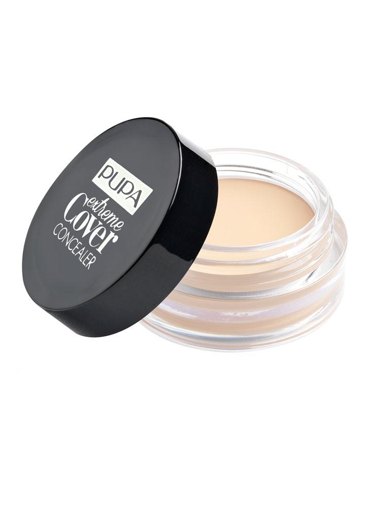 Консилер Extreme Cover Concealer тон 001Консилер<br>-Консилер с кремовой тающей текстурой, который идеально адаптируется на коже без эффекта маски. Мгновенно покрывает кожу, скрывает видимые круги под глазами, черные точки и любые другие несовершенства кожи. <br><br>Вес гр: 5; Цвет: Фарфор;