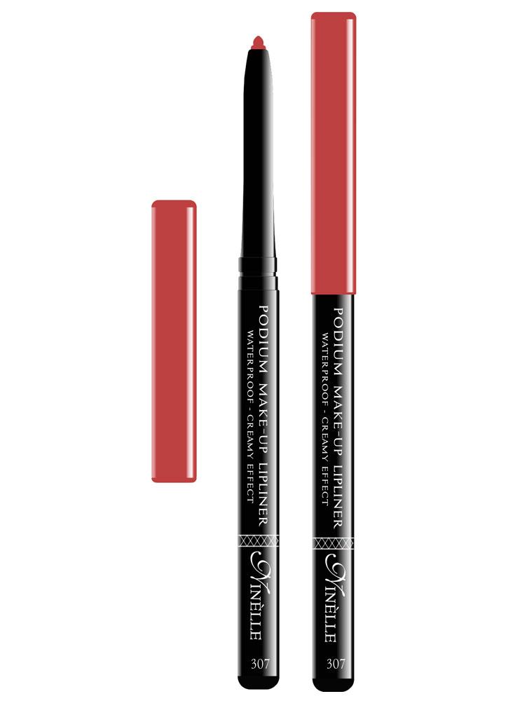 Карандаш для губ водостойкий Podium Make-Up  тон 307Карандаш для губ<br>-Водостойкий карандаш для губ поможет Вам очертить четкий контур губ, чтобы увеличить стойкость помады или блеска для губ.<br>Цвет: Винный;