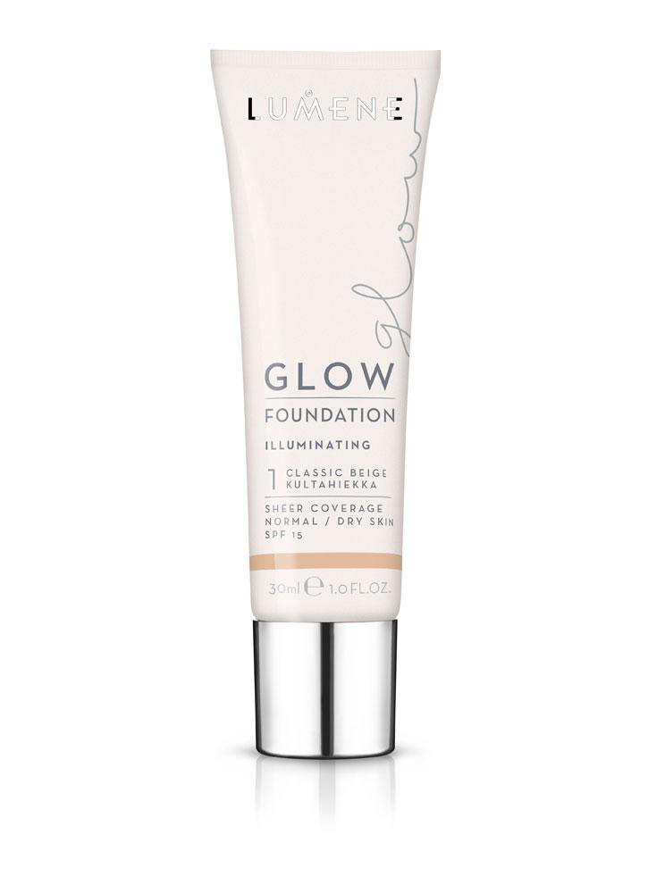 Крем тональный придающий сияние Glow Foundation тон 1Тональное средство<br>Увлажняющая тональная основа с легким покрытием выравнивает тон кожи и придает ей естественное сияние. Средство идеально подходит для нормальной и сухой кожи.<br>Цвет: Классический бежевый;