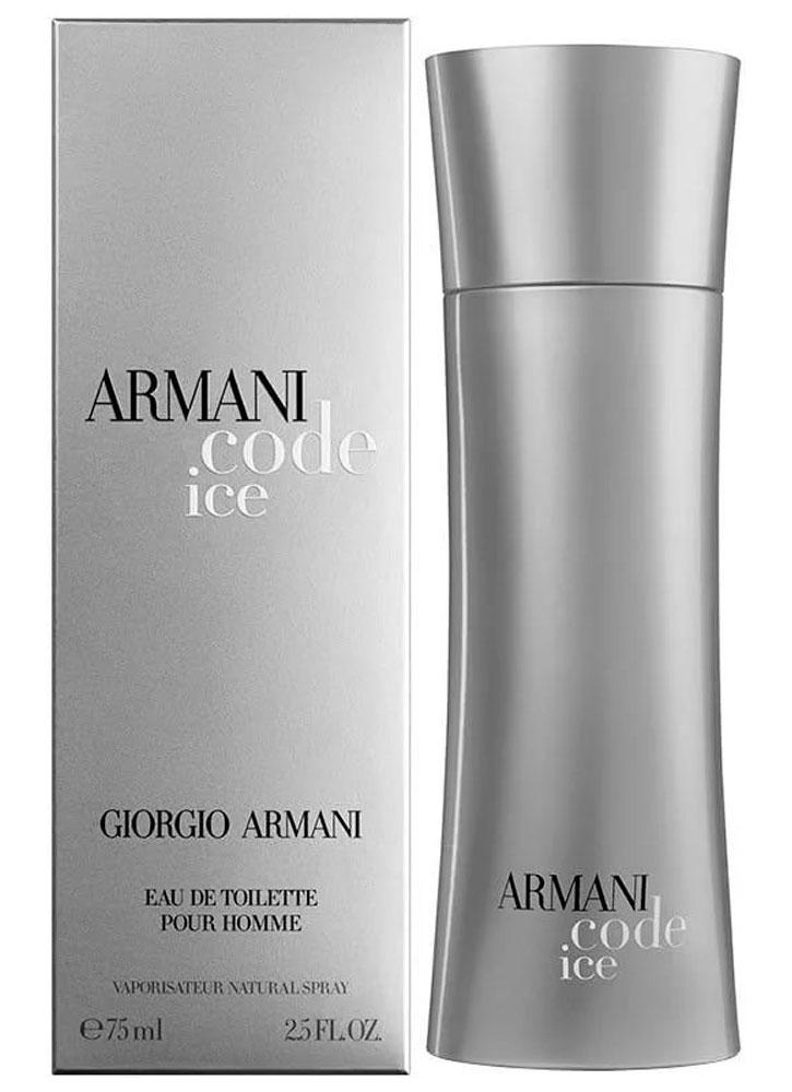Туалетная вода Armani Code Ice муж.Туалетная вода<br>-Аромат для мужчин Armani Code Ice подобен восточной мелодии, которая оставляет после себя чувственное ощущение волшебства. Насыщенный и бодрящий аромат наполнен свежестью цитрусов и сладостью специй.<br>