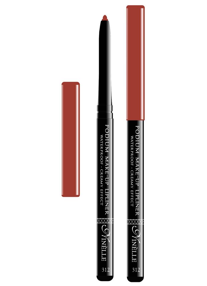Карандаш для губ водостойкий Podium Make-Up тон 312Карандаш для губ<br>-Водостойкий карандаш для губ поможет Вам очертить четкий контур губ, чтобы увеличить стойкость помады или блеска для губ.<br>Цвет: Красно-коричневый;