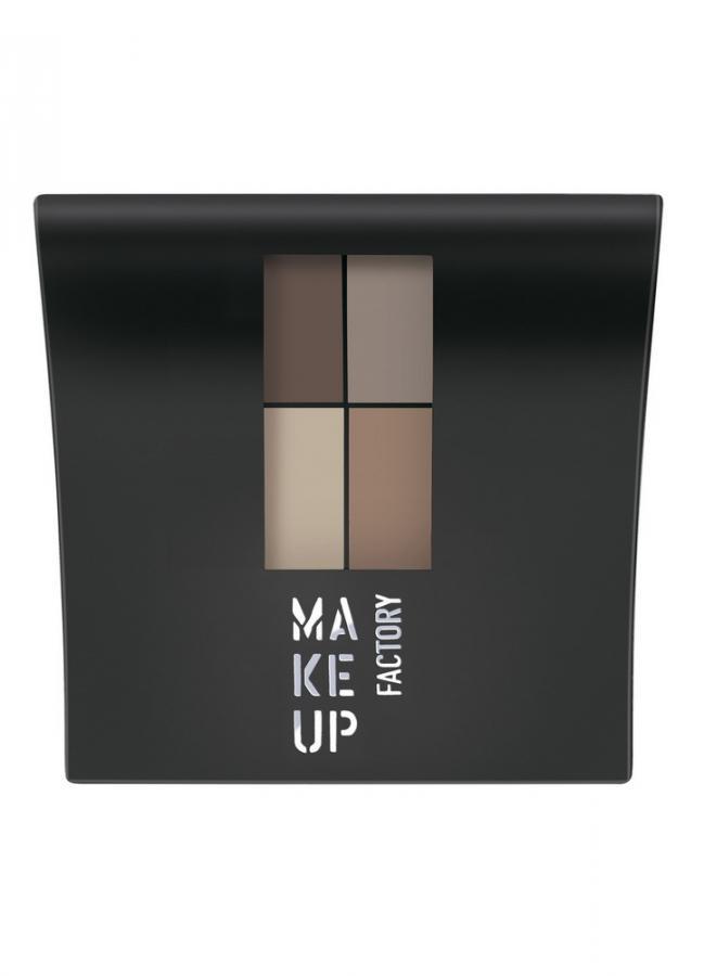 Тени для век коричневый/светло-коричневый/светло-бежевый/серо-бежевый MAKE UP FACTORY Mat Eye Colors фото