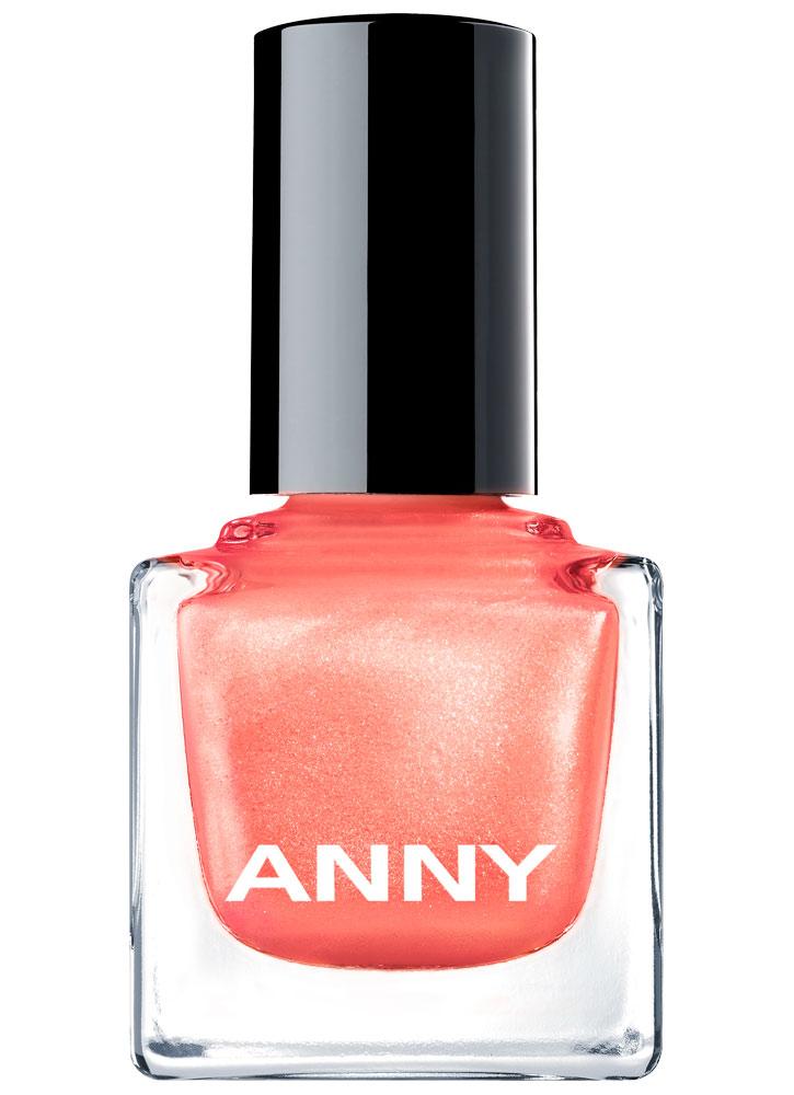 Лак для ногтей Светло оранжевый с искрой ANNY Shades фото