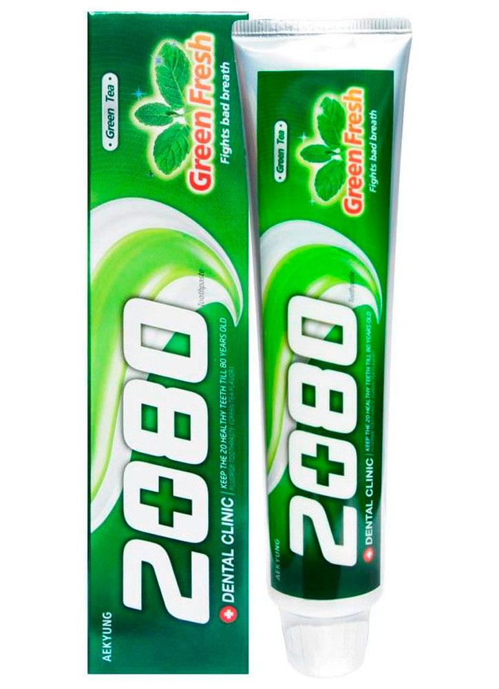 Зубная паста зеленый чай DENTAL CLINIC 2080 Green Fresh фото