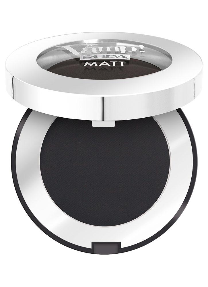 Тени для век компактные Глубокий черный PUPA Vamp! MATT фото