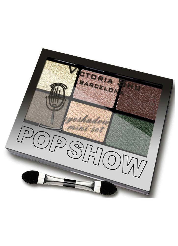Палетка теней для век Pop Show тон 469Палетка теней<br>Мини-наборы для создания макияжа любой сложности – легкого дневного или&amp;nbsp;&amp;nbsp;выразительного вечернего.<br>Цвет: Бежево-изумрудная гамма;