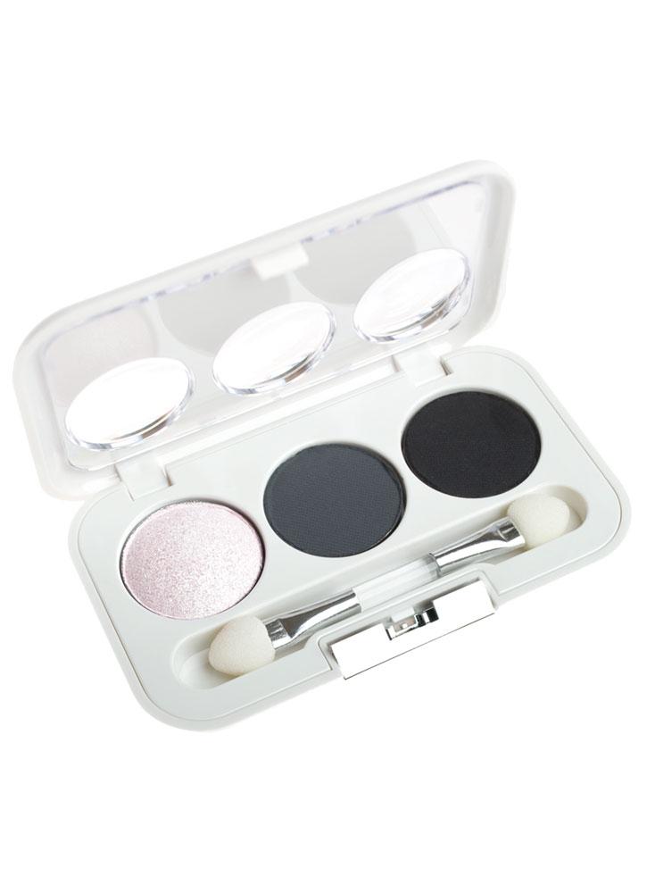Тени для век трио Perfect Harmony Eyes тон 108 черный,серый,белыйТени для век<br>Мини-палетка компактных теней для век. Специально подобранные оттенки для создания гармоничных сочетаний.<br>Цвет: черный,серый,белый;