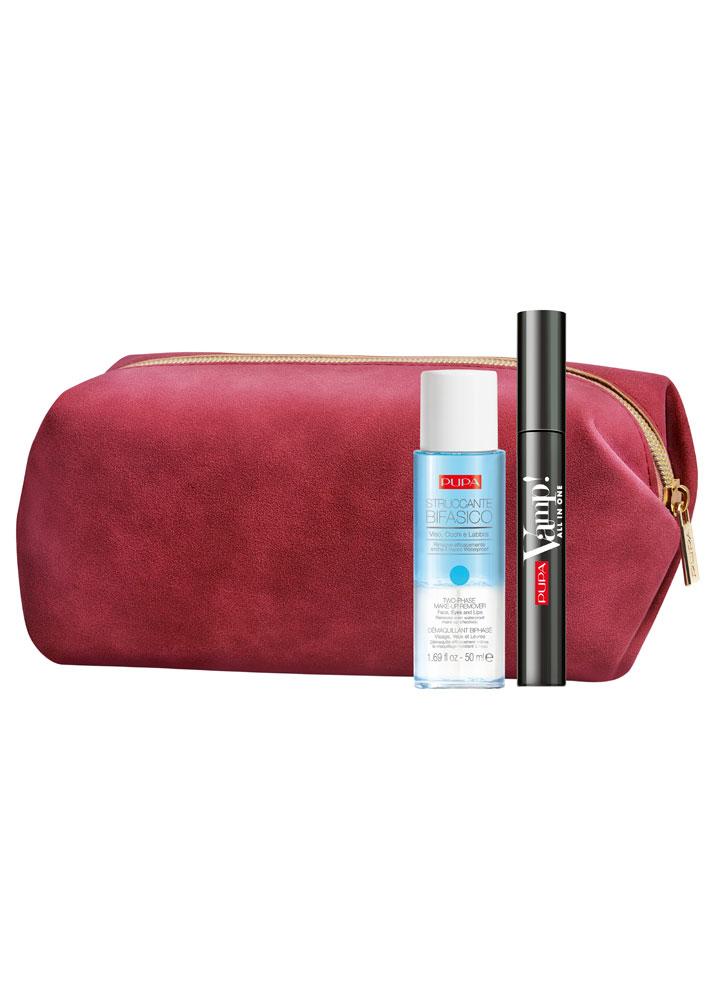Купить Набор тушь+двухфазное средство для снятия макияжа PUPA, Vamp! Mascara All in One & Two-phase Make-up Remover, Италия