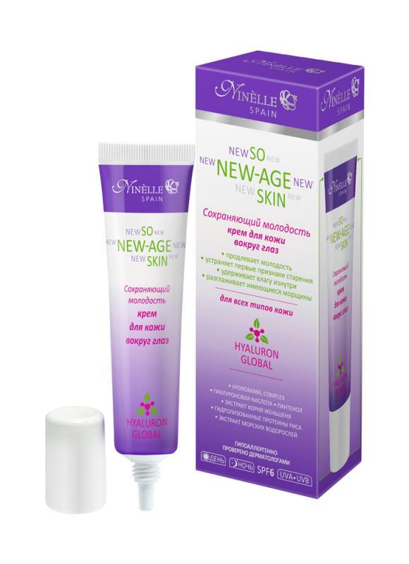 Крем для кожи вокруг глаз,сохраняющий молодость NINELLEКрем для кожи вокруг глаз<br>Восстанавливающий коктейль активных компонентов в сочетании с активной гиалуроновой кислотой, воплощенный в текстуре тающего крема, моментально разглаживает кожу вокруг глаз, делает ее бархатистой и свежей.<br>Вес : 0.03100;