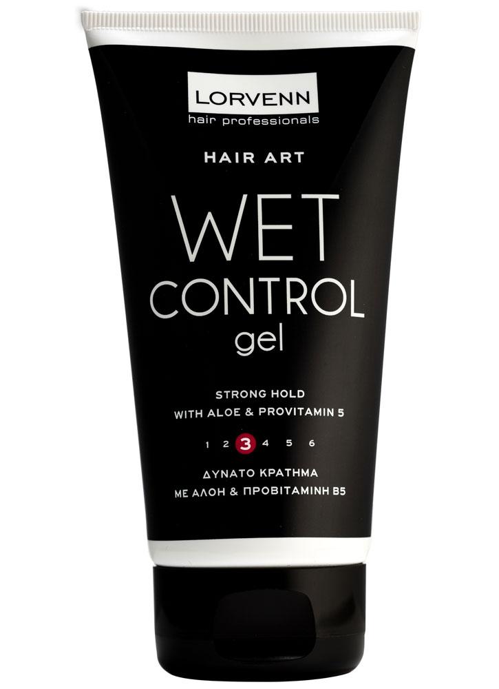 Гель для создания эффекта мокрых волос, сильной фиксации без спирта Wet Control Gel 150млГель<br>Гель для создания эффекта мокрых волос идеально подходит для гладких причесок. Способствует укреплению волос и их эластичности.<br>