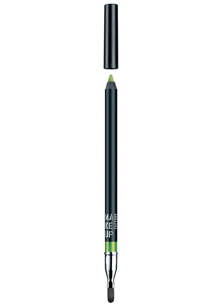 Карандаш для глаз устойчивый водостойкий Smoky Liner long-lasting &amp; waterproof тон 16 ЗеленыйКарандаш для глаз<br>Устойчивый карандаш Smoky Liner long-lasting &amp; waterproof идеально подходит для создания линий по внешнему и внутреннему веку, а также для карандашных растушевок. Наличие удобной кисти на обратной стороне карандаша позволяет качественно растушевать линию и трансформировать ее в мягкие тени. Мягкая и кремовая текстура на основе воска очень пластична, легко ложится и не царапает веко. Карандаш обеспечит водостойкий результат и интенсивный цвет. Незаменимый помощник для макияжа в стиле Smokey Eyes.<br>Цвет: Зеленый;