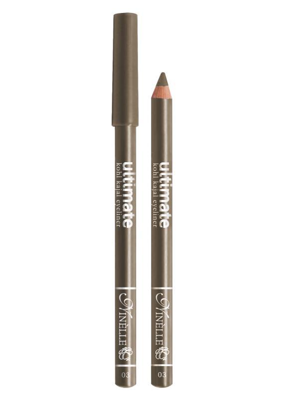 Карандаш для глаз Ultimate тон 3 КоричневыйКарандаш для глаз<br>Высокопигментированный карандаш для создания яркого и смелого макияжа. Мягкий и гладкий карандаш для глаз с шелковистой текстурой, позволяющий нарисовать четкую или слегка растушеванную линию. С помощью мягкого карандаша- каяла можно подводить верхнее, нижнее, а также внутреннее веко.<br>Цвет: Коричневый;