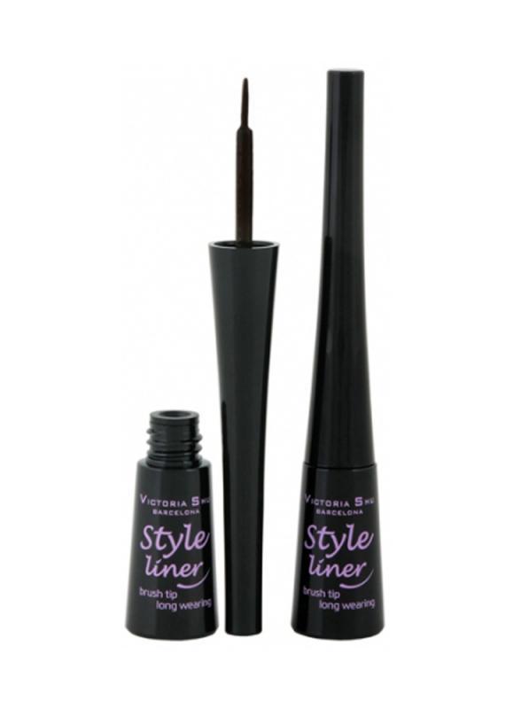 Подводка для глаз Style Liner тон 3 темно-коричневыйПодводка для век<br>Подводка STYLE LINER создает 100% выразительный и завораживающий макияж! Насыщенная пигментами текстура подводки легко скользит по нежной коже века, рисуя правильные, ровные линии. С помощью специальной профессиональной кисточки &amp;#40;brush tip&amp;#41; из натурального ворса можно регулировать толщину нанесения стрелки в зависимости от настроения и повода. Текстура подводки мгновенно высыхает, обладает устойчивостью в течение всего дня. Легко снимается с помощью обычного средства для снятия макияжа с глаз. 4 оттенка с насыщенным пигментом. Подводка STYLE LINER делает взгляд на 100% выразительным, сохраняя макияж в течение всего дня!<br>Цвет: темно-коричневый;