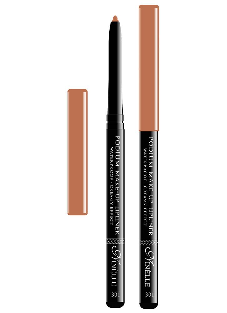 Карандаш для губ водостойкий Podium Make-Up тон 301Карандаш для губ<br>-Водостойкий карандаш для губ поможет Вам очертить четкий контур губ, чтобы увеличить стойкость помады или блеска для губ.<br>Вес ГР: 0,35; Цвет: Бежевый;