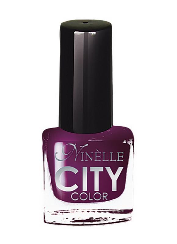 Лак для ногтей City Color тон 173Лак для ногтей<br>Новейшие тенденции маникюра и потребности современных женщин вдохновили марку Ninelle на создание новой коллекции лаков для ногтей CITY COLOR от NinelleФормула уникальна и безупречна: лак быстро сохнет, гарантирует идеальную цветопередачу и потрясающий блеск, а также непревзойденную стойкость. Лак для ногтей City color выравнивает поверхность ногтя, делая его идеально гладким и безупречно глянцевым. Высокая концентрация пигментов и новая кисть заметно упростили маникюрную процедуру - лаки теперь можно наносить одним слоем. Удобная кисточка поможет распределить лак быстро и с максимальной точностью, что позволяет равномерно нанести лак даже на короткие ногти. Богатая цветовая гамма позволяет выбрать прекрасный вариант для любого повода. В состав входят ухаживающие компоненты, предотвращающие повреждения ногтей. И еще одно удобство для жительниц мегаполисов - лак снимается настолько легко, что его можно менять так часто, как Вы пожелаете. Подходит для натуральных и искусственных ногтей.<br>Цвет: Черничный десерт;