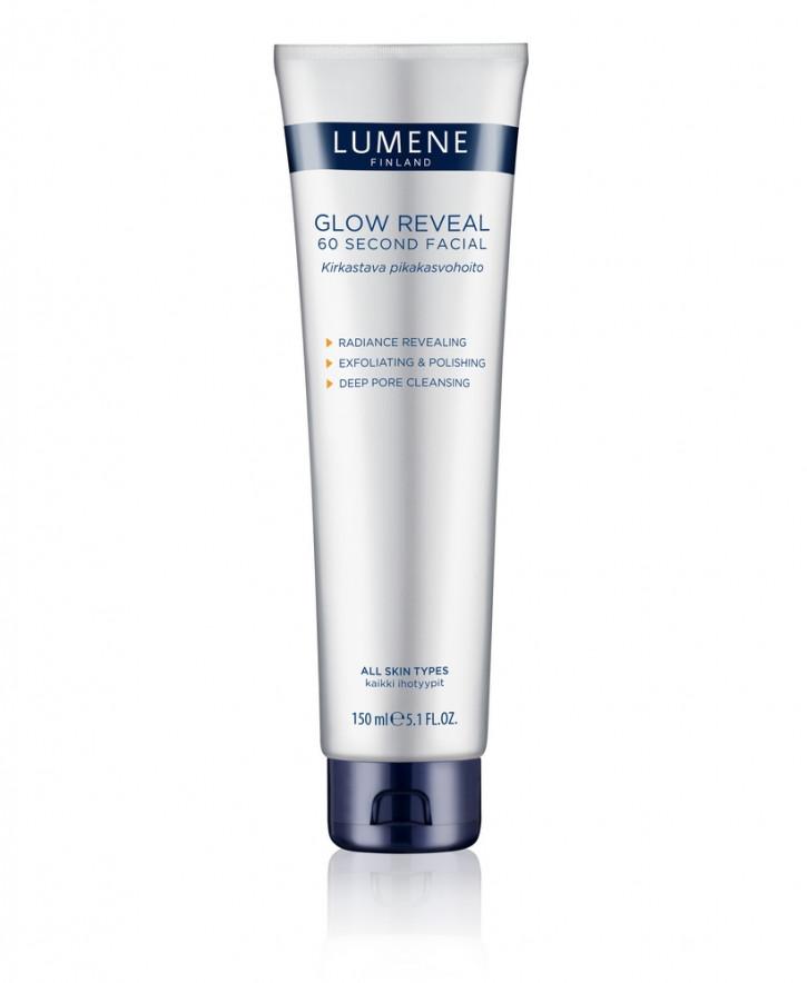 Очищающее средство для умывания Lumene Glow Reveal 60 секунд, 150 млКрем очищающий<br>С маслом семян арктической морошки и облепихи. Для всех типов кожи.<br>