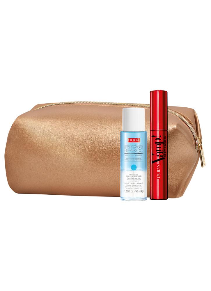 Купить Набор Тушь+Двухфазная жидкость для снятия макияжа PUPA, VAMP! SEXY LASHES & Two-phase Make-up Remover, Италия
