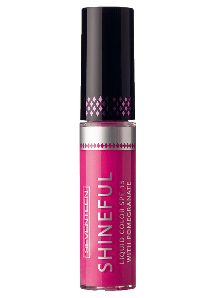 Помада-блеск жидкая с глянцевым эффектом Персидский розовый SEVENTEEN Shineful Liquid Color SPF 15 фото