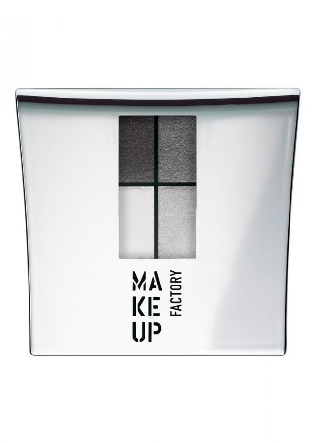 Тени для век черный/серый/белый/серебрянный песок MAKE UP FACTORY Eye Colors фото