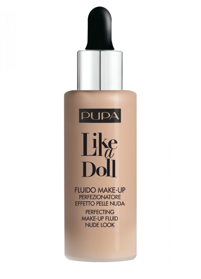 Флюид тональный Естественный бежевый PUPA Make-Up Fluid Like A Doll фото