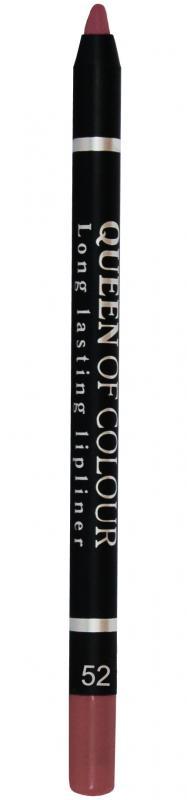 Карандаш для губ Queen Of Colour тон 52 РозовыйКарандаш для губ<br>Потрясающий контур - роскошные губы! Контурный карандаш для губ Queen Of Colour – это пять насыщенных и стойких оттенков, которые сделают образ притягательным и ярким. Теперь ни у кого не оставляя сомнений в красоте ваших губ. Абсолютно матовая, шелковистая и мягкая текстура изготовлена по принципу губной помады. Поэтому карандаш легко скользит по контуру губ, эффектно его подчеркивает и делает макияж максимально стойким в течение всего дня. Специальные насыщенные цветовые пигменты придают оттенкам роскошные насыщенные цвета, которые остаются на губах неизменными в течение всего дня. Карандаш выполнен в пластиковом, легко затачивающемся корпусе.<br>Цвет: Розовый;