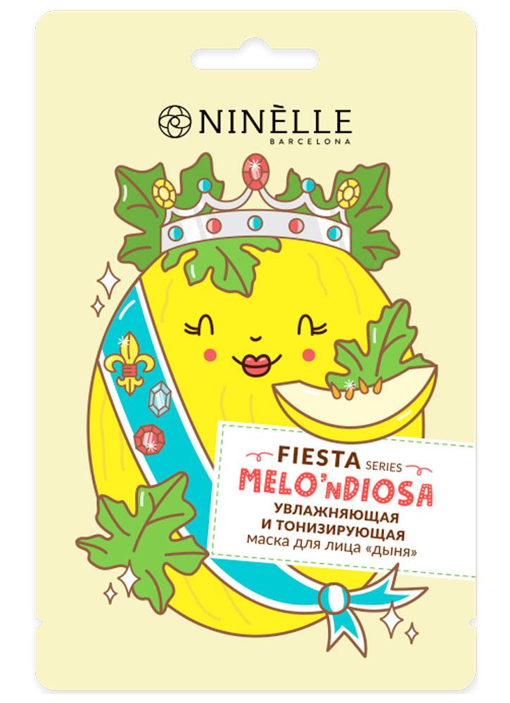Купить Тканевая маска для лица увлажняющая и тонизирующая NINELLE, Дыня Fiesta
