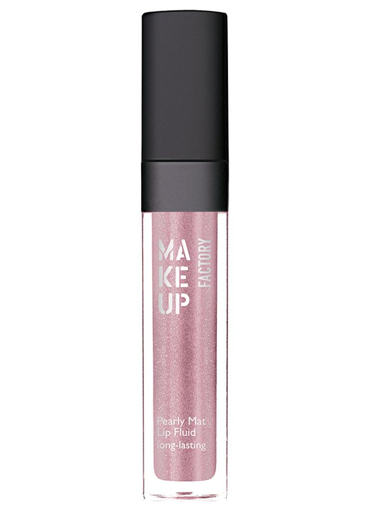Блеск-флюид с эффектом металлик Лаванда MAKE UP FACTORY Pearly Mat Lip Fluid long-lasting фото