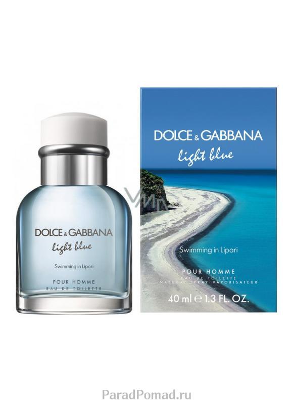 Туалетная вода Light Blue Swimming in Lipari муж. 40 млМужская<br>-<br>