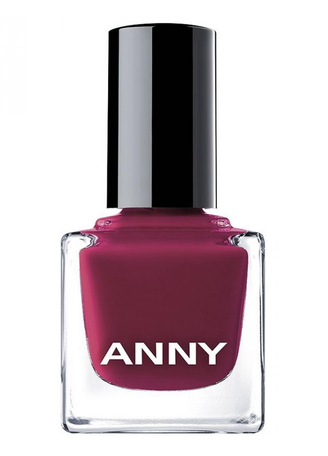 Лак для ногтей Темно-розовый с вишнево-красным оттенком ANNY