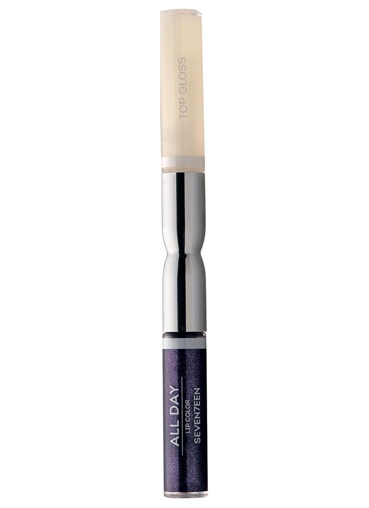 Купить Помада-блеск для губ жидкая Фиолетовый с блестками SEVENTEEN, All Day Lip Color &Top Gloss, Греция