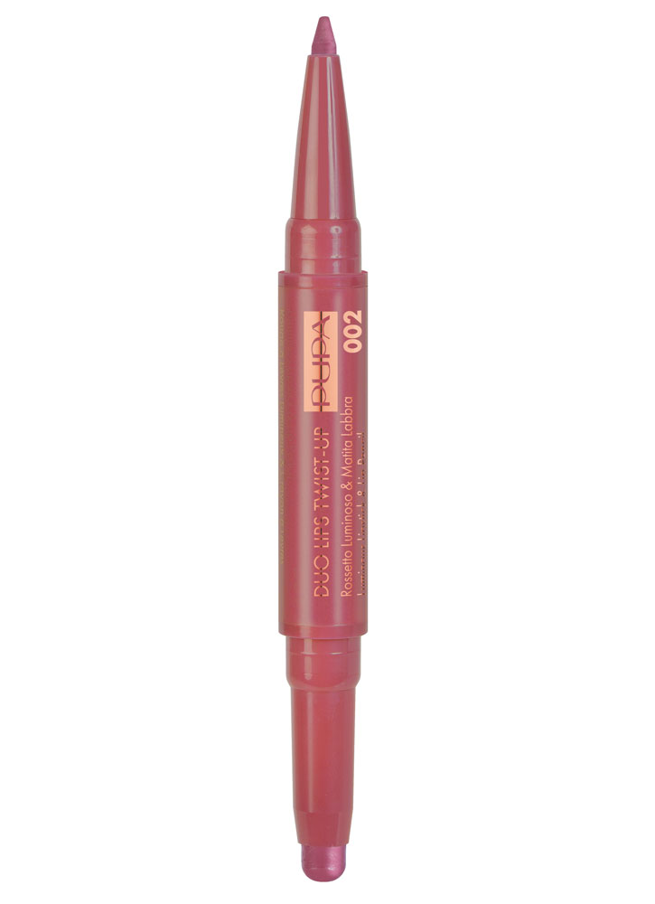 Помада и карандаш для губ Duo Lips Twist-Up тон 002Помада для губ<br>-Двойной продукт - стойкая кремовая помада и карандаш для губ ей в тон из коллекции Material Luxury от PUPA. Помада обеспечивает тонкое, мягкое покрытие. Карандаш имеет кремовую тающую текстуру, которая идеально закрепляется на губах. Идеальная интенсивность цвета и четкое нанесение. <br><br>Цвет: Розовый фламинго;