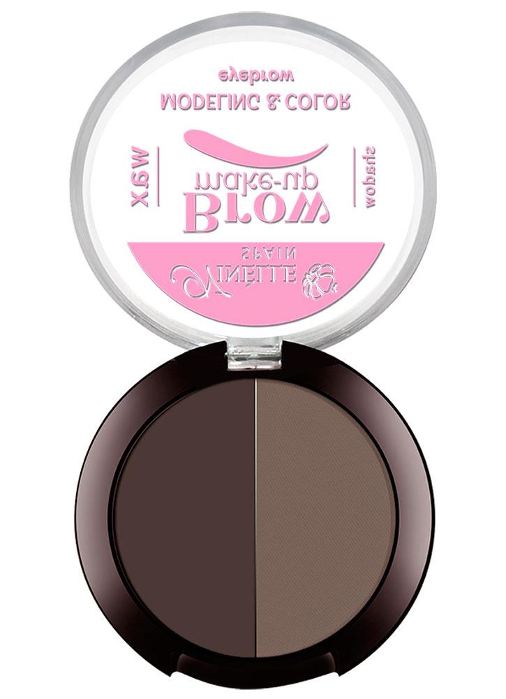 Палетка (воск+тени) для моделирования бровей Modeling&amp;Color Eyebrow тон 04Пудра для бровей<br>-<br>Цвет: Темно-коричневый;