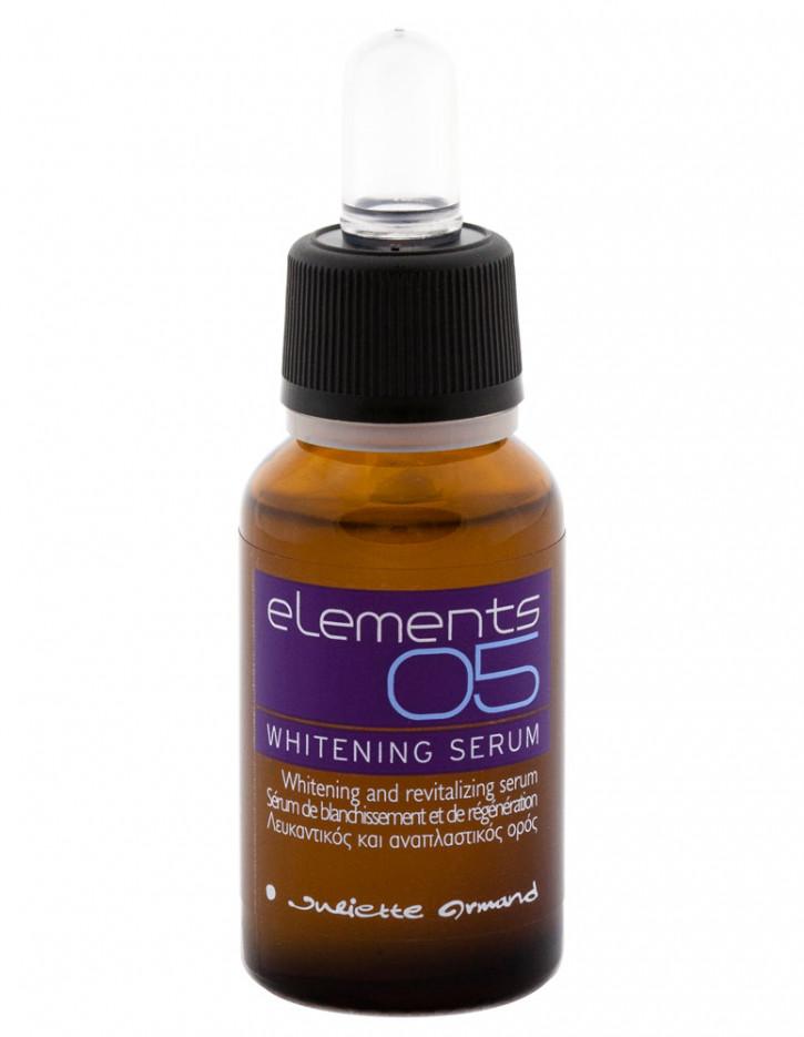 Отбеливающая сыворотка Whitening Serum 20 млСыворотка<br>Рекомендуется для коррекции пигментных пятен в сочетании с Отбеливающим кремом 05 WHITENING 24H CREAM. Высококонцентрированный препарат для быстрого и невероятного по своей эффективности выравнивания цвета лица. Сыворотка эффективна при наличии пигментных пятен любой этиологии, придает коже здоровое сияние.<br>