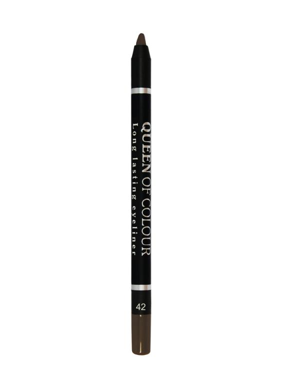Карандаш для глаз Queen Of Colour тон 42 Коричневый матовыйКарандаш для глаз<br>Контурный карандаш для глаз Queen Of Colour - это кремовая текстура &amp;#43; 100% устойчивость. Высокая концентрация пигментов создает насыщенный цвет, который делает образ более ярким и индивидуальным. Таким карандашом можно выполнить как дневной, так и вечерний макияж. 5 ярких сатиновых насыщенных оттенков сделают контур глаз более выразительным, а макияж стойким.<br>Цвет: Коричневый матовый;