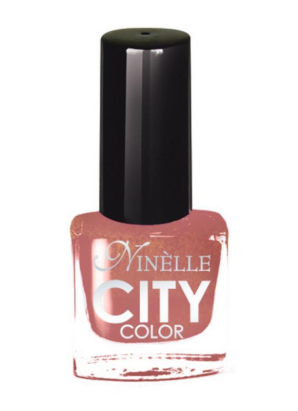 Лак для ногтей City Color тон 164 Золото пустыниЛак для ногтей<br>Новейшие тенденции маникюра и потребности современных женщин вдохновили марку Ninelle на создание новой коллекции лаков для ногтей CITY COLOR от NinelleФормула уникальна и безупречна: лак быстро сохнет, гарантирует идеальную цветопередачу и потрясающий блеск, а также непревзойденную стойкость. Лак для ногтей City color выравнивает поверхность ногтя, делая его идеально гладким и безупречно глянцевым. Высокая концентрация пигментов и новая кисть заметно упростили маникюрную процедуру - лаки теперь можно наносить одним слоем. Удобная кисточка поможет распределить лак быстро и с максимальной точностью, что позволяет равномерно нанести лак даже на короткие ногти. Богатая цветовая гамма позволяет выбрать прекрасный вариант для любого повода. В состав входят ухаживающие компоненты, предотвращающие повреждения ногтей. И еще одно удобство для жительниц мегаполисов - лак снимается настолько легко, что его можно менять так часто, как Вы пожелаете. Подходит для натуральных и искусственных ногтей.<br>Цвет: Золото пустыни;