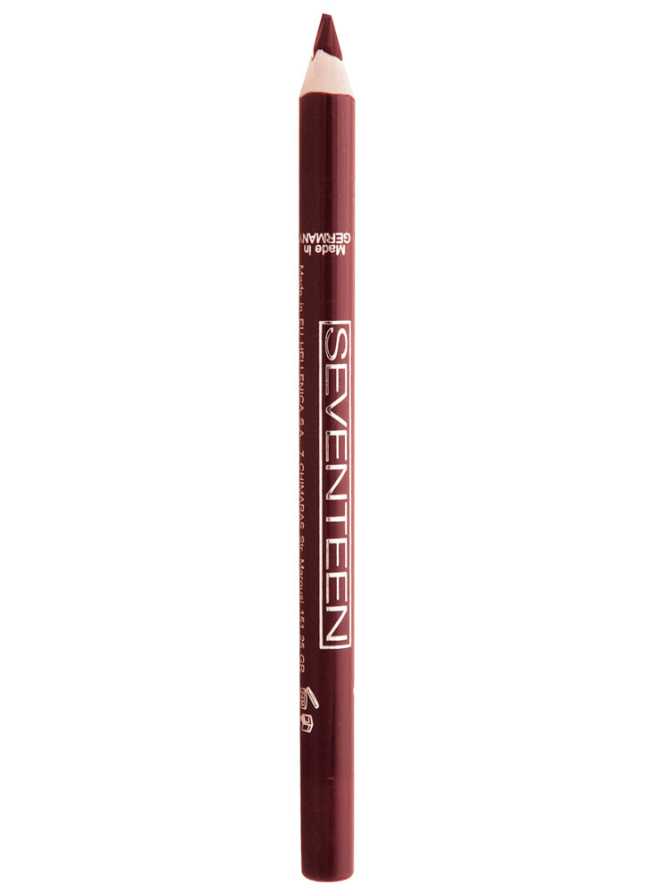 Карандаш для губ водостойкий Сливовый SEVENTEENКарандаш для губ<br>Мягкий карандаш для губ в пластиковом корпусе. Устойчивый результат.<br>Вес гр: 1,2; Цвет: Сливовый; RGB: 131,56,61;