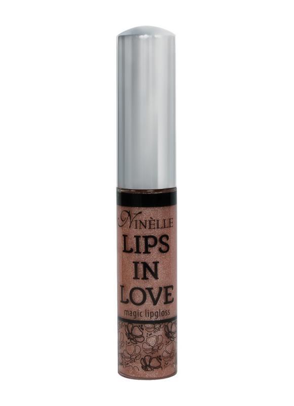 Блеск для губ Lips In Love тон 23 БежевыйБлеск для губ<br>Блеск для губ Lips in Love марки Ninelle – это 10 нежных глянцевых и мерцающих тонов для блистательного, легкого макияжа и сладкого поцелуя.Невесомая текстура, одновременно тающая и густая, легко наносится, равномерно и комфортно ложится на поверхность губ, придавая губам искрящийся блеск, дополнительный объем и соблазнительный эффект влажных губ. Блеск для губ Lips in Love подходит, как дополнительное средство по уходу за губами. Его можно использовать, как самостоятельно, для создания прозрачного искрящегося стиля, так и поверх губной помады, чтобы образ был более ярким и притягательным.<br>Цвет: Бежевый;