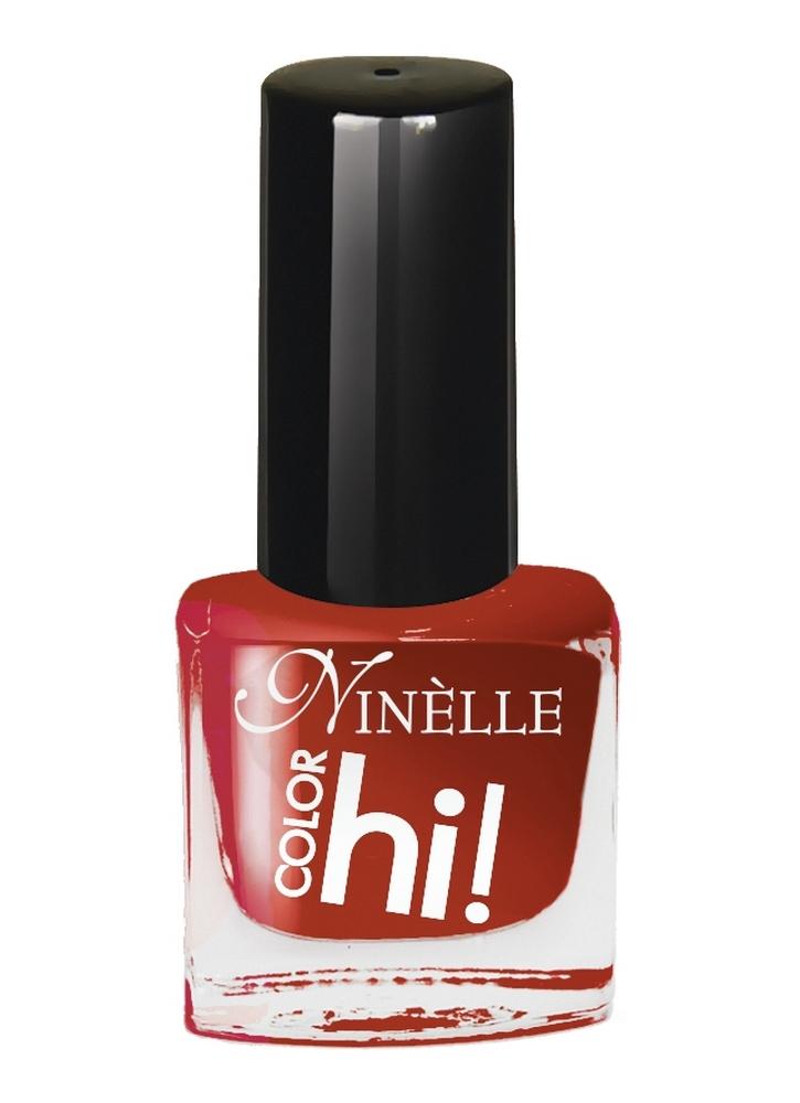 NINELLE Лак для ногтей HI!Color тон 60 Темный красно-оранжевый