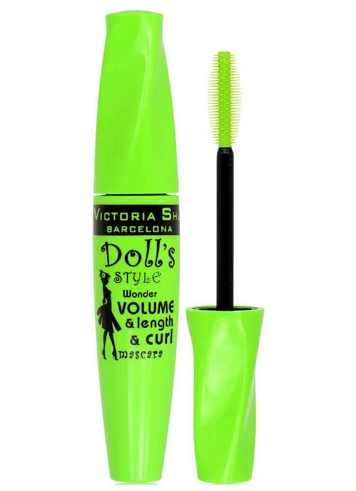 Тушь для ресниц объемная и подкручивающая Черный VICTORIA SHU Dolls Style All Lashes VolumeCurl