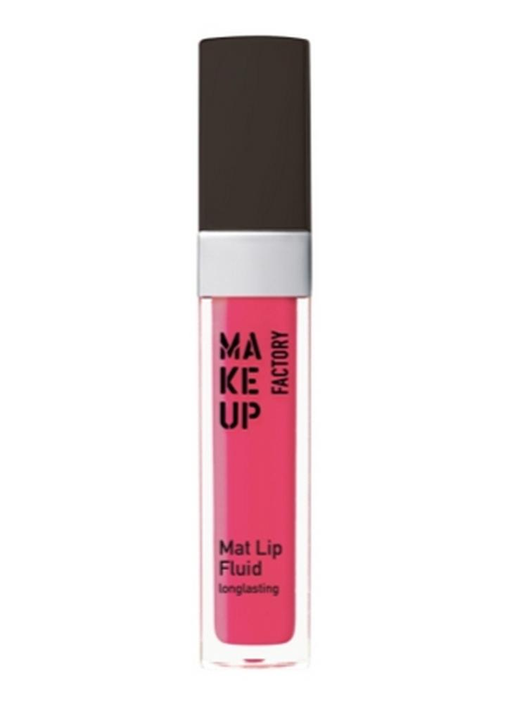 MAKE UP FACTORY Помада-блеск для губ матовая стойкая Mat Lip Fluid longlasting тон 48 коралловая роза