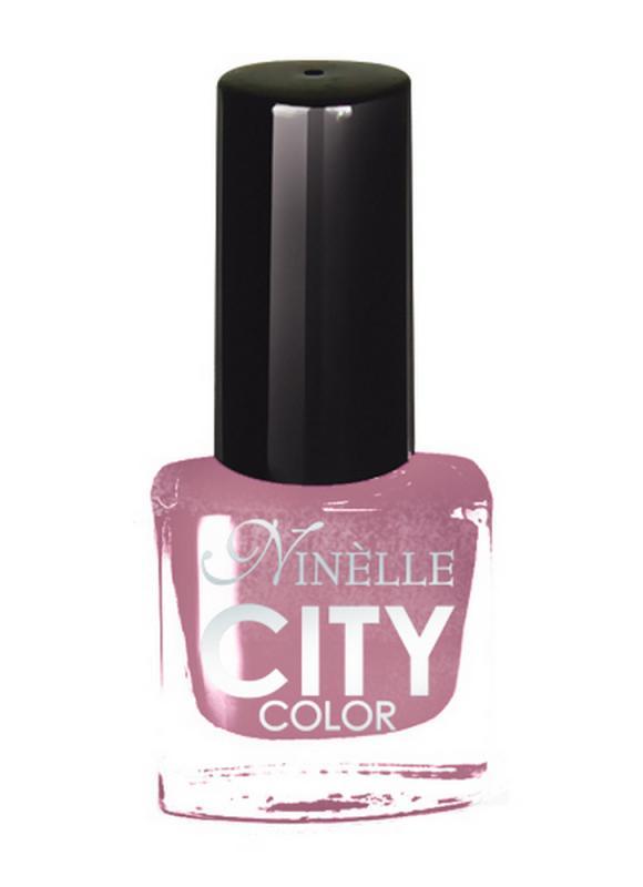 Лак для ногтей City Color тон 151 Морозная сиреньЛак для ногтей<br>Новейшие тенденции маникюра и потребности современных женщин вдохновили марку Ninelle на создание новой коллекции лаков для ногтей CITY COLOR от NinelleФормула уникальна и безупречна: лак быстро сохнет, гарантирует идеальную цветопередачу и потрясающий блеск, а также непревзойденную стойкость. Лак для ногтей City color выравнивает поверхность ногтя, делая его идеально гладким и безупречно глянцевым. Высокая концентрация пигментов и новая кисть заметно упростили маникюрную процедуру - лаки теперь можно наносить одним слоем. Удобная кисточка поможет распределить лак быстро и с максимальной точностью, что позволяет равномерно нанести лак даже на короткие ногти. Богатая цветовая гамма позволяет выбрать прекрасный вариант для любого повода. В состав входят ухаживающие компоненты, предотвращающие повреждения ногтей. И еще одно удобство для жительниц мегаполисов - лак снимается настолько легко, что его можно менять так часто, как Вы пожелаете. Подходит для натуральных и искусственных ногтей.<br>Цвет: Морозная сирень;