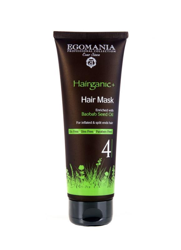 Купить Маска для непослушных и секущихся волос EGOMANIA, Baobab Seed Oil Mask, Израиль
