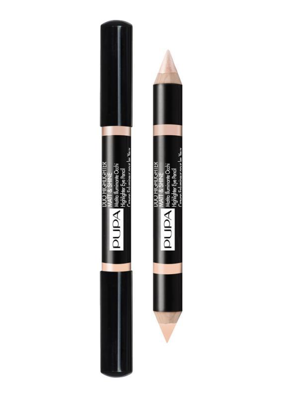 Хайлайтер для век Duo Highlighter Matt&amp;Shine тон 2 РозовыйХайлайтер для век<br>Большой двойной карандаш: с одной стороны - матовый, с другой -блестящий/перламутровый идеален для коррекции недостатков кожи и создания световых точек.<br>Цвет: Розовый;
