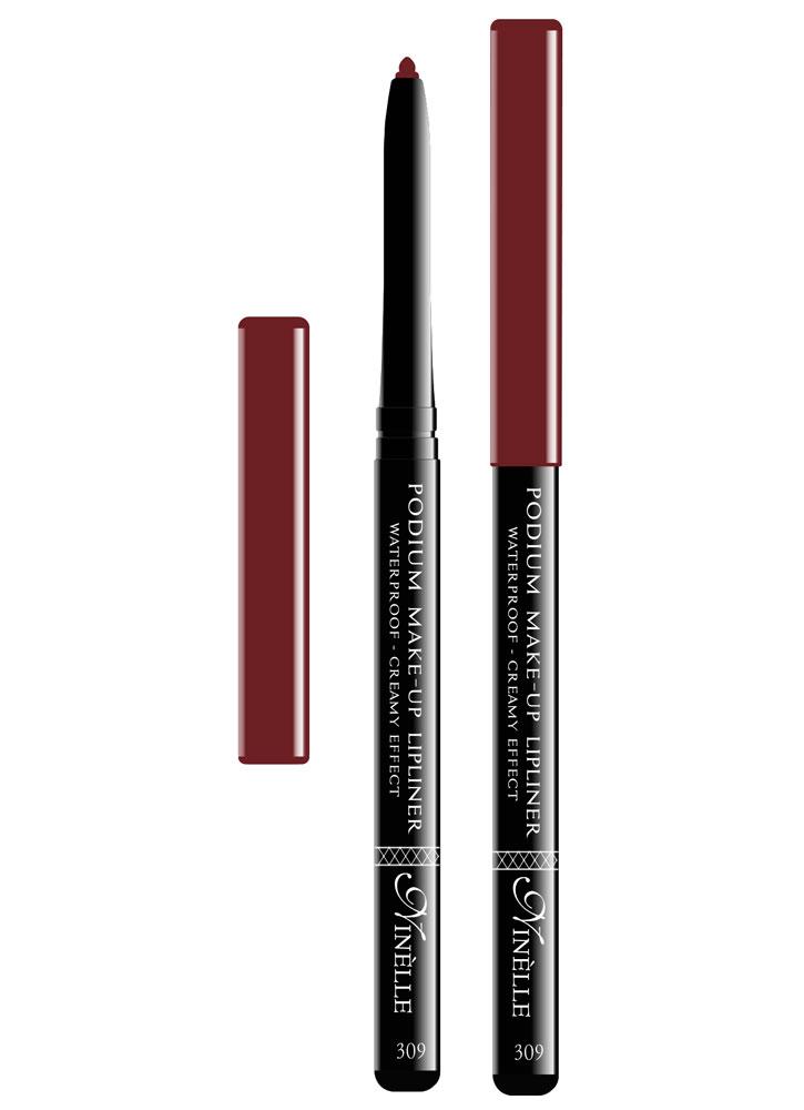 Карандаш для губ водостойкий Podium Make-Up тон 309Карандаш для губ<br>-Водостойкий карандаш для губ поможет Вам очертить четкий контур губ, чтобы увеличить стойкость помады или блеска для губ.<br>Цвет: Бордовый;